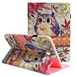 Folio Case for Samsung Galaxy Tab E 9.6 - ZAOX Star Owl Leather Magnetic Flip with Card Slot & Stand Protective Shell Wallet Case Slim Fit Shockproof Cover for Galaxy Tab E 9.6 Inch SM-T560 Tablet
