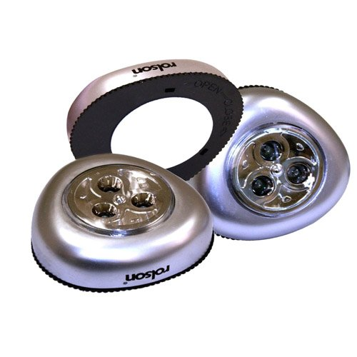Rolson 61761 3 Led Push Light
