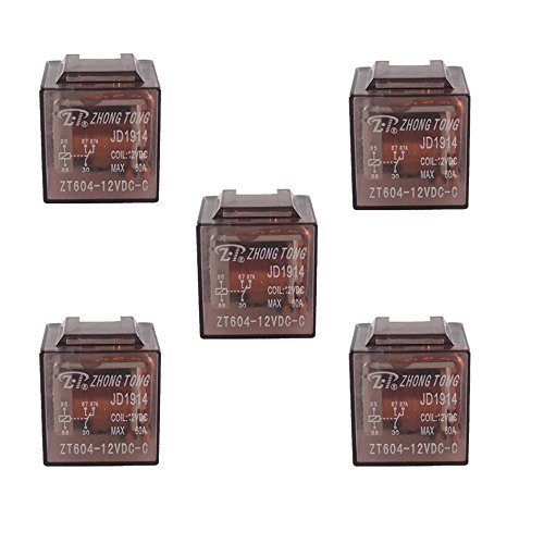 60a Relay - E Support Car Truck Auto 12V 60A 60 AMP SPDT Relay Relays 5 Pin Pack of 5