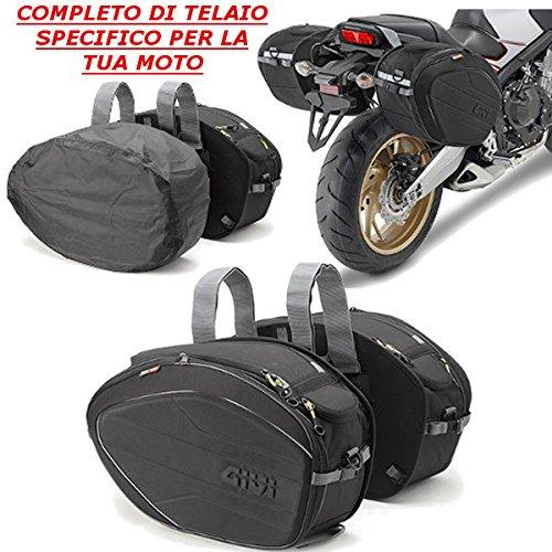 Seitentaschen 40 l EA100B mit speziellem Fu/ßteil TE1137 GIVI f/ür Honda CB 650 F 2015