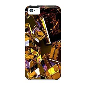 For Iphone 5c Premium Tpu Case Cover Glass Cubes 11 Protective Case
