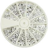 Silver Moon Rhinestone Pack of 1200 Crystal Premium Quality Gemstones by Evermarket