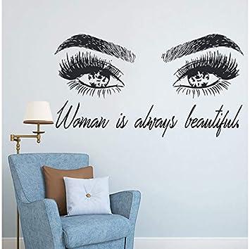 Selbstklebend Wandtattoo Wandsticker Wohnzimmer Dekoration Frauenwimpern