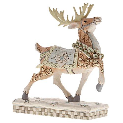 (Enesco 6001412 White Woodland Reindeer Prance, Multicolor)