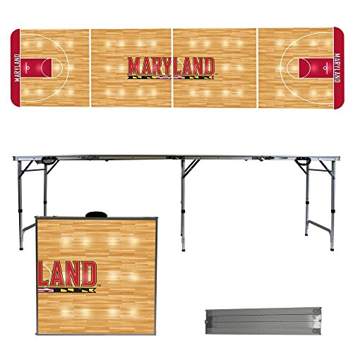 NCAA Maryland Terrapins Basketball Court Version 8-Feet Folding Tailgate (Ncaa Maryland Terrapins Sports Table)