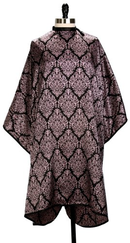 Divine Damask Purple and Black Salon Hair Cutting Styling Cape by Cover N Style Salon Hair Cutting Cape