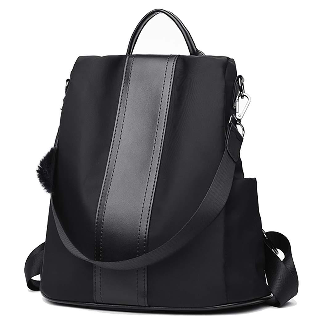 COOFIT Rucksack Damen Wasserdichte Schultasche Daypack Diebstahlsicher Tagesrucksack Versteckte Rei/ßverschluss Schultertaschen Nylon Backpack Anti Diebstahl mit Haarkugel