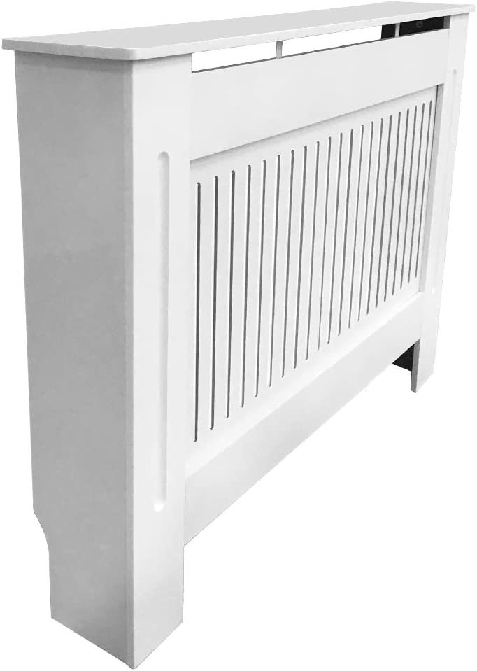 Greenbay Traditional Radiator Cover MDF Cabinet White Painted Medium mm 1120 x 815 x 190
