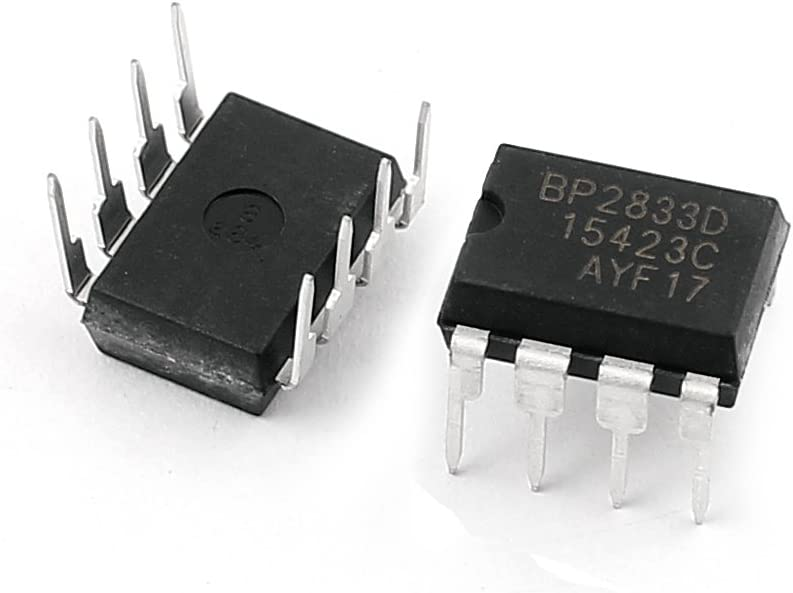 Aexit BP2833D Replacement Fixed Resistors DIP-8 Package Type SMT LED Driver Resistor Chip Arrays IC 10Pcs