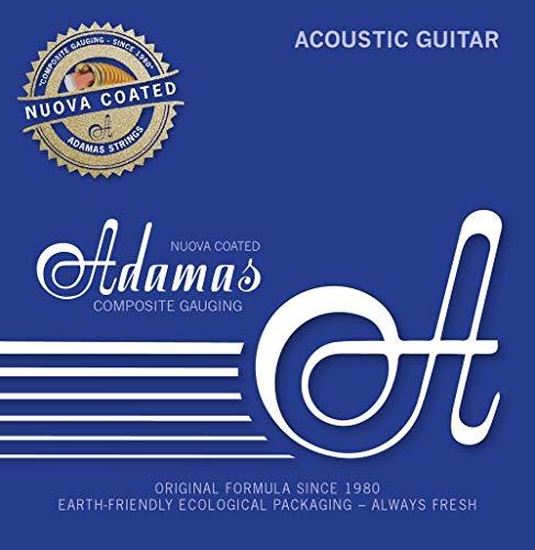 Adamas strings for steel string guitar Nuova Phosphor bronze coated 3er Satz 3er Satz Super-Light .011