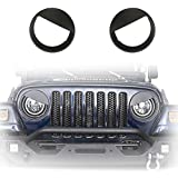 u-Box Black Front Headlight Cover Trim Angry Bird Eyes Style ABS Bolt-on Bezels for 1997-2006 Jeep Wrangler TJ & Wrangler Unlimited