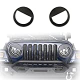 good looking angry birds decals u-Box Black Front Headlight Cover Trim Angry Bird Eyes Style ABS Bolt-on Bezels for 1997-2006 Jeep Wrangler TJ & Wrangler Unlimited