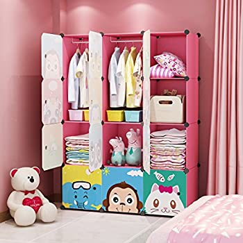 Amazon.com: KOUSI Portable Kids Bookshelf Children Toy Organizer ...