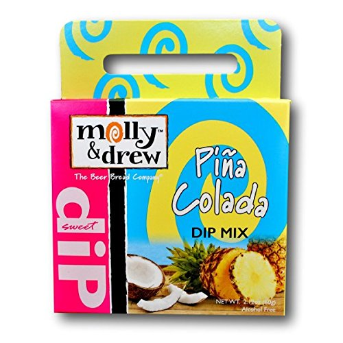 Molly And Drew Dip Mix! One 1.5 Oz Box! Pina Colada! Amaretto Cherry! Mojito Me! Pineapple Pecan! Perfect For Parties! (Pina Colada) ()
