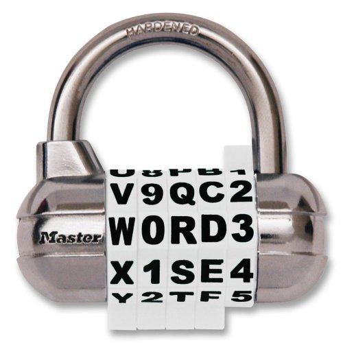 Master Lock Combination Alpha Padlock - Combination - Steel Shackle, Chrome Body - (Master Combination Alpha Padlock)