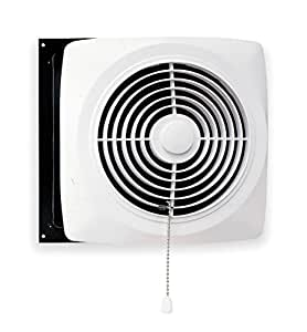 Broan Chain Operated Ventilation Fan Plastic White Square