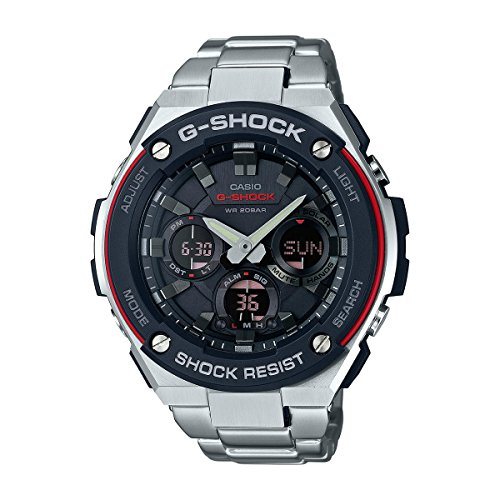 Casio G Shock G Steel Smoke Dial SS Chronograph Quartz Mens Watch GSTS100D 1A4