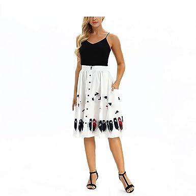Mujeres Que Imprimen Faldas de Cintura Alta Falda de Cintura ...
