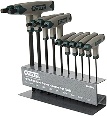 Allen 56656G SAE Ball-Plus T-Thru Handle Set, 10-Piece by Cooper Tools