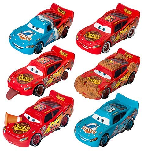 Disney/Pixar Cars Lightning McQueen Diecast Memorable Moments Collection (6 Pack) -