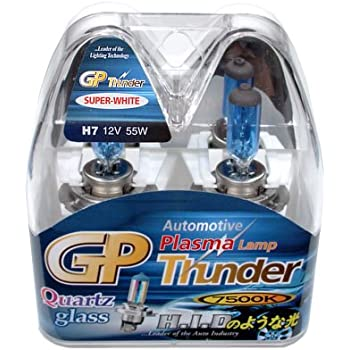 GP Thunder H7 7500K 55W Super White with Quartz Glass Bulbs for High - Low Beam - Head Lamp - Fog Light - BMW - AUDI - MERCEDEZ BENZ SGP75K-H7