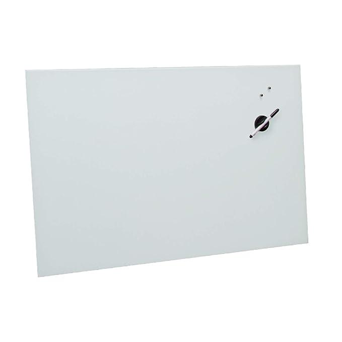 VISCOM Memoboard Glas Groß, 120 x 90 cm, Verschiedene Farben Größen wählbar, Magnetwand, Magnetboard, Magnetisch, Weiß