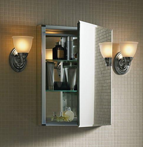 Kohler K-Cb-Clc2026Fs Frameless 20 Inch X 26 Inch Aluminum Bathroom Medicine Cabinet Recess Or Surface Mount