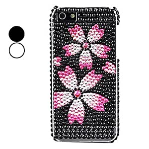 Mini - Flower Pattern Hard Case for iPhone 5/5S Color: White