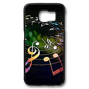 Colorful Musical Notes Back Design [Slim-Fit] Protective Cover For Samsung Galaxy S6 Case Durable Summer Customizable Hard PC Cases
