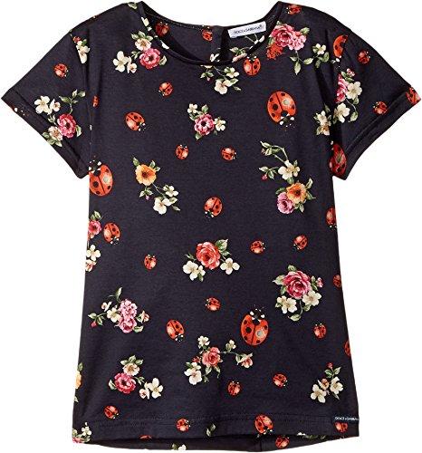 Dolce & Gabbana Kids Girl's Back To School Jersey T-Shirt (Big Kids) Coccinelle 8 (Big Kids) by Dolce & Gabbana