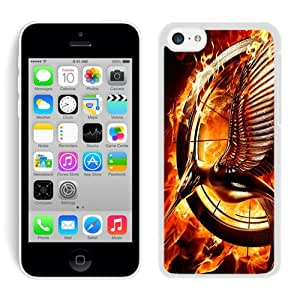 Hot Sale iPhone 5C Screen Cover Case With Catching Fire White iPhone 5C Case Unique And Beautiful Designed Phone Case