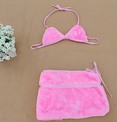 Fashion cute pretty Christmas Easter day Cos performance Fluffy cat lady lingerie clothing female bra dress (pink)