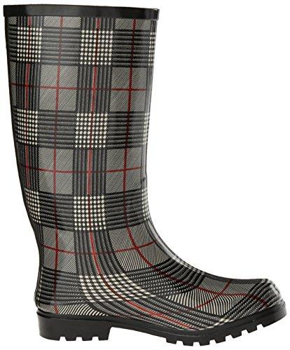 Nomad Womens Puddles Rain Boot Black/Red Plaid MZHKqU