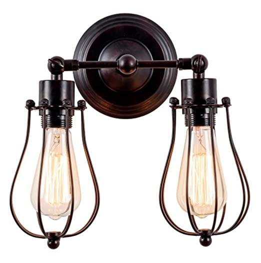 Soporte de lámpara de pared industrial Luling ático antiguo ...