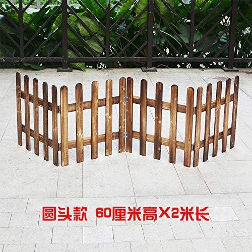 Sannysis - Valla de madera para jardín o jardín, diseño de flores: Amazon.es: Jardín