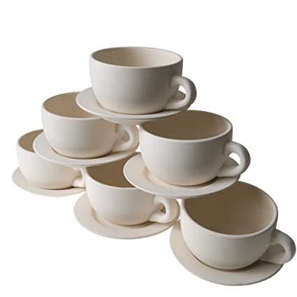 Amazoncom Fun Express Design Your Own Tea Cup Planters Set 6 Pack