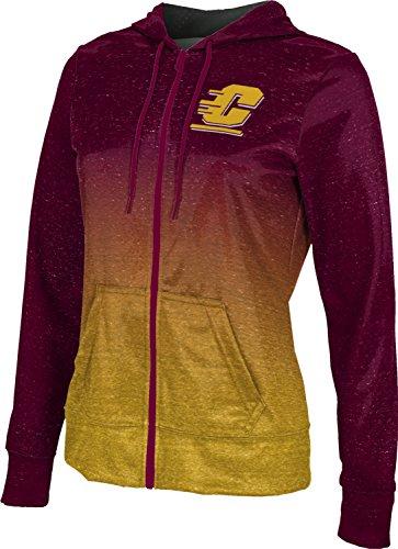 (ProSphere Central Michigan University Women's Zipper Hoodie, School Spirit Sweatshirt (Ombre) FCFD Maroon and Gold )