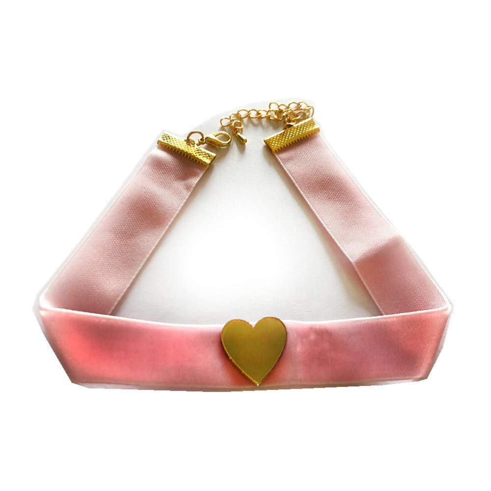 Acccity Red Sailor Moon Usagi Choker Cosplay Chocker Necklace Jewelry (Pink)