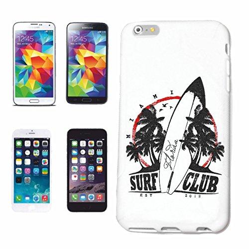 """cas de téléphone iPhone 7+ Plus """"SURF CLUB FLORIDA SURF BEACH SURFBOARDS LONGBOARD ONDES SURF Beginner Shop"""" Hard Case Cover Téléphone Covers Smart Cover pour Apple iPhone en blanc"""
