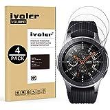 iVoler [4 Pack] Pellicola Vetro Temperato per Samsung Galaxy Watch 46mm / Samsung Gear S3 Frontier / S3 Classic [Garanzia a Vita], Pellicola Protettiva, Protezione per Schermo