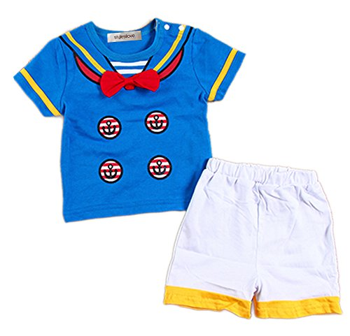 StylesILove Cute Baby Boy 2-piece Infant Toddler Costume Suit (110/2-3 Years, Donald)