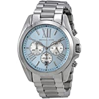 Michael Kors Bradshaw Blue Dial SS Chronograph Quartz Ladies Watch MK6099
