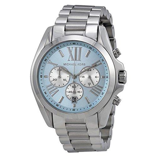 w Blue Dial SS Chronograph Quartz Ladies Watch MK6099 ()