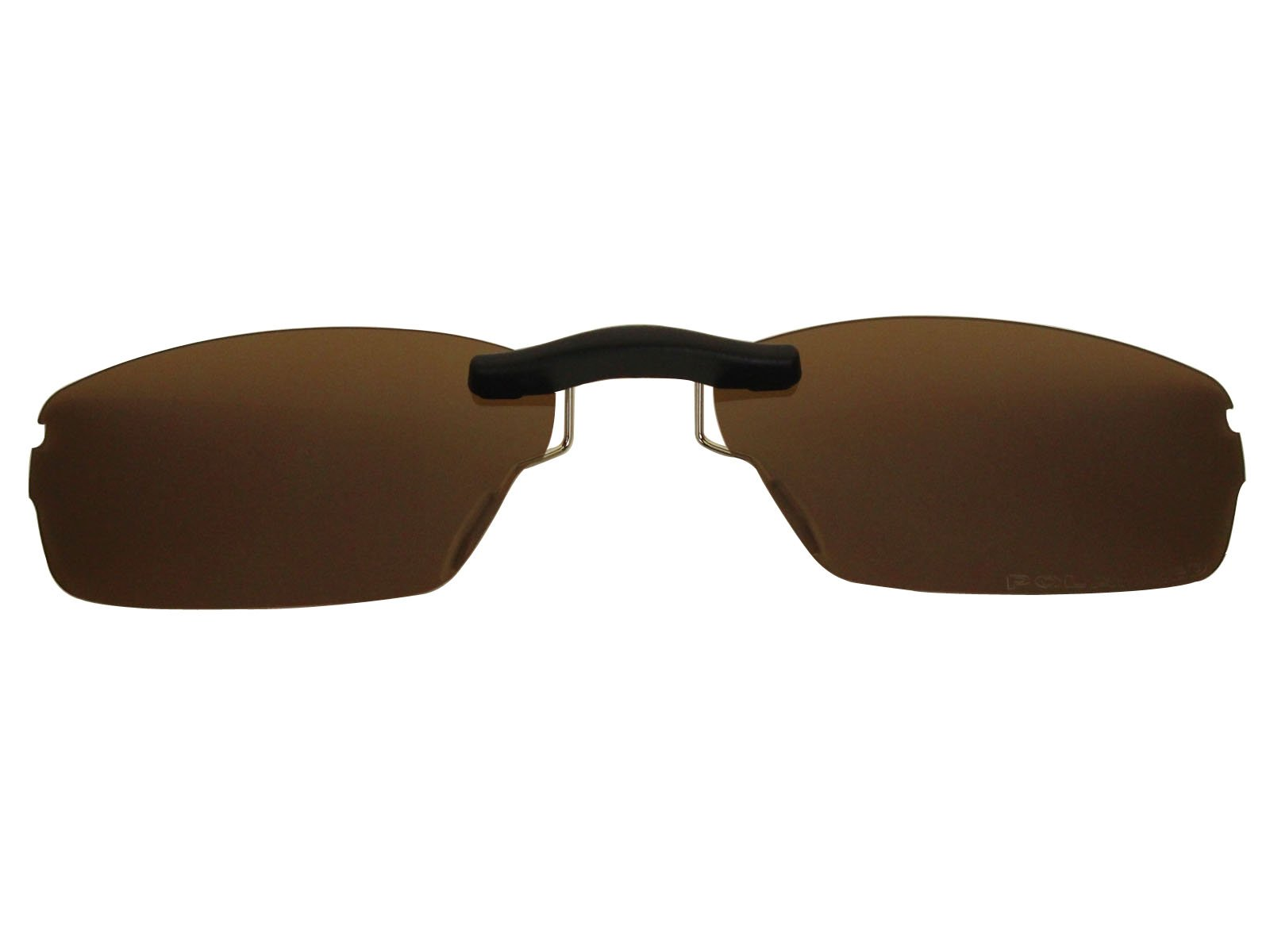 Custom Fit Polarized CLIP-ON Sunglasses For Oakley Jackknife 4.0 51X19 Brown
