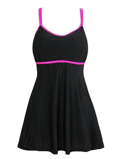 ef596d4b88a Papaya wear Women s Swimwear Bikini Cover up One Piece Swimsuit Plus Size  Rose L