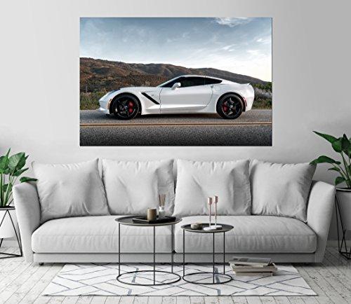 Corvette Stingray C7 Luxury Automobile Art Print Wall Decor Image Self-Adhesive - Wallpaper Sticker 40 x 60-2XL by Kraska (Image #2)