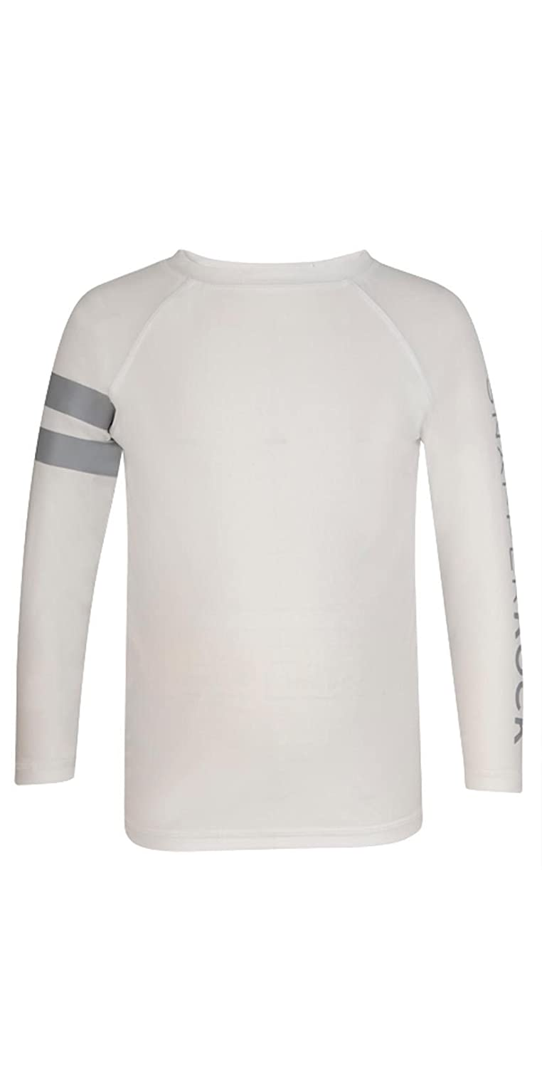 Snapper Rock Boys LS Rash Top White Arm Band
