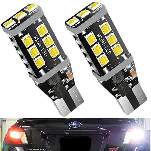(2018 Model) TRINITY SPACE Extremely Bright Led Bulb 2200 Lumens Error Free 921 912 T10 T15 for Backup Reverse Lights, Xenon White, No Hyper Flash
