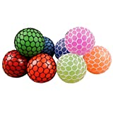 60-65mm Silicone Squeeze Ball Stress Relief Squeezing Soft Rubber Vent Squishy Grape Mesh Ball Hand Wrist Toy Funny Geek Gadget Vent Toy
