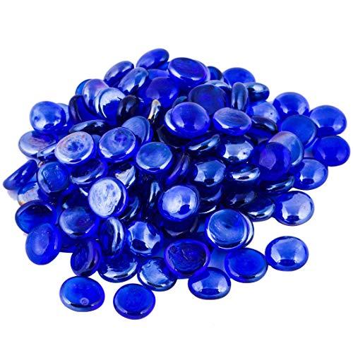 The Glass Pebble Shop - Piedras de Cristal (1 kg, Aprox. 200 Unidades) Lote de 1 kg de Piedras de Cristal Decorativas, Color Mezclado: Amazon.es: Hogar